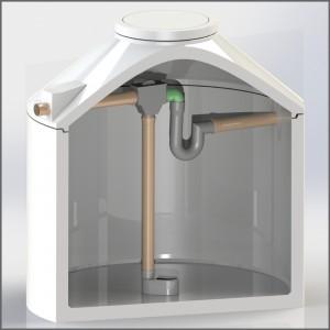 Regenwasserzisterne mit Evo Integral Combi Inox in schwarz - Regenwasser nutzen